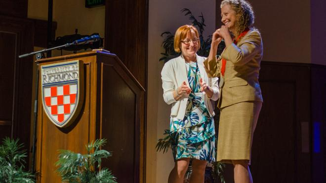 Joanne Ciulla Recognized for Service to the University