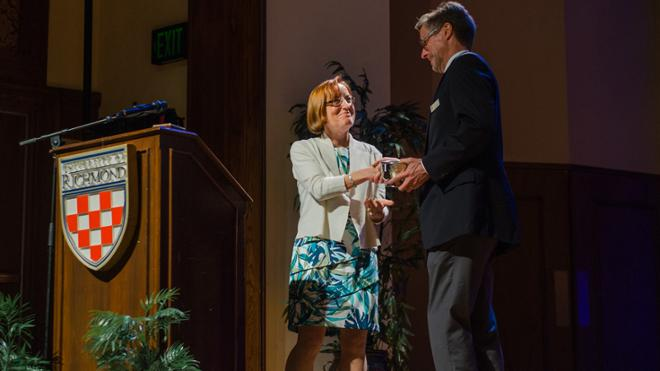 Terry Price Presented With the Jepson School Award for Leadership and Service