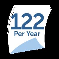 22 per year