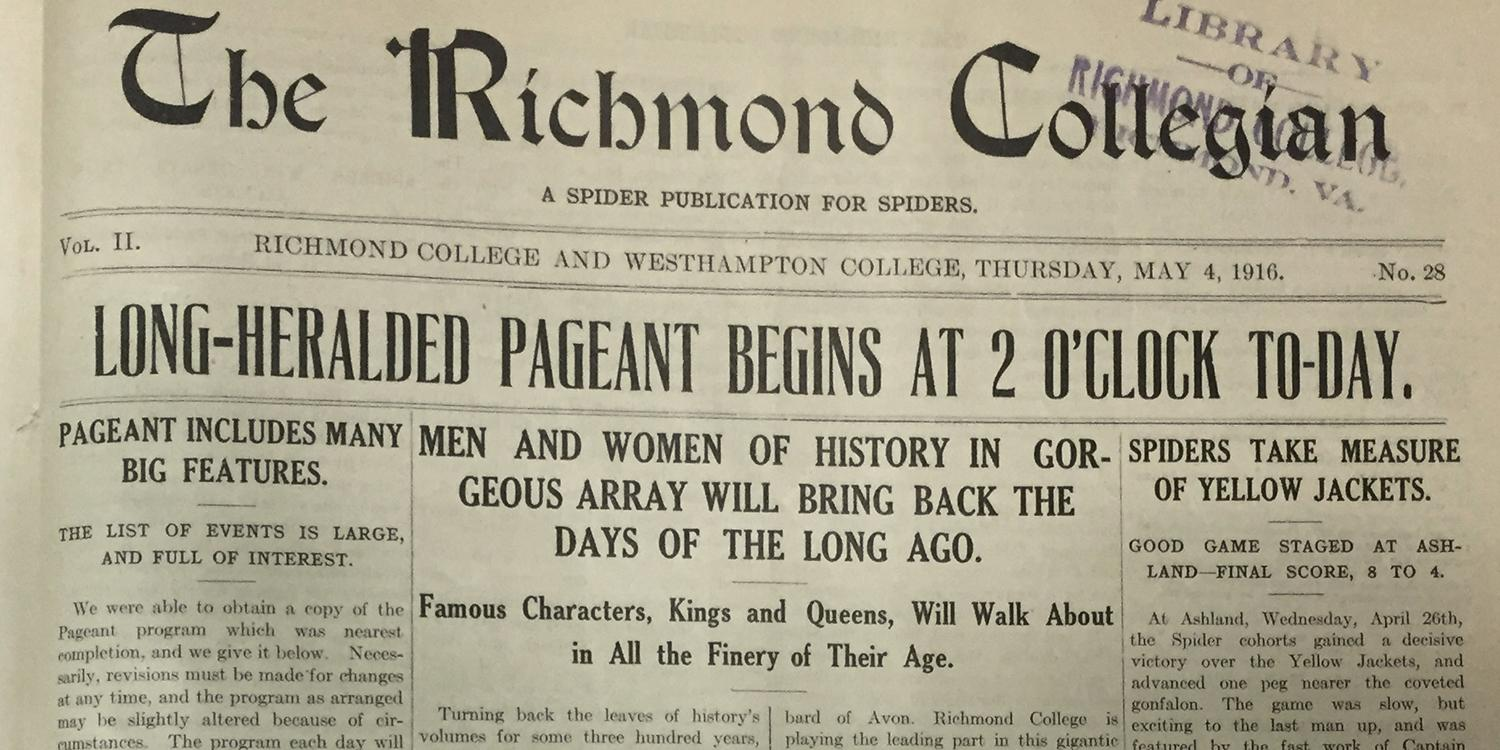 'Long-heralded pageant begins at 2 o'clock to-day'