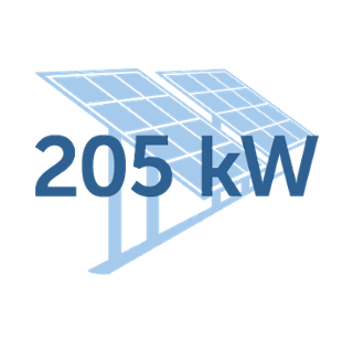 solar array installed in 2016