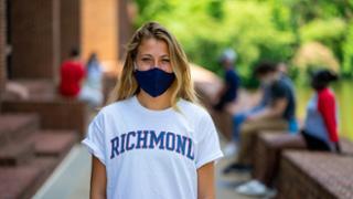 Student outside of Tyler Haynes Commons
