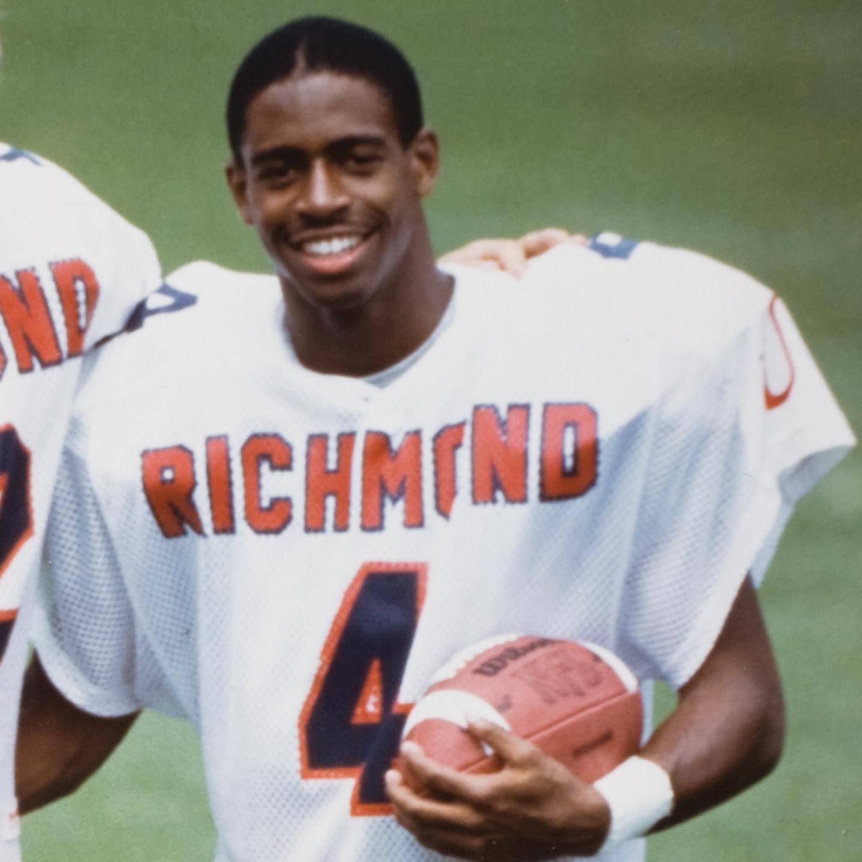Leland Melvin Playing Football for UR