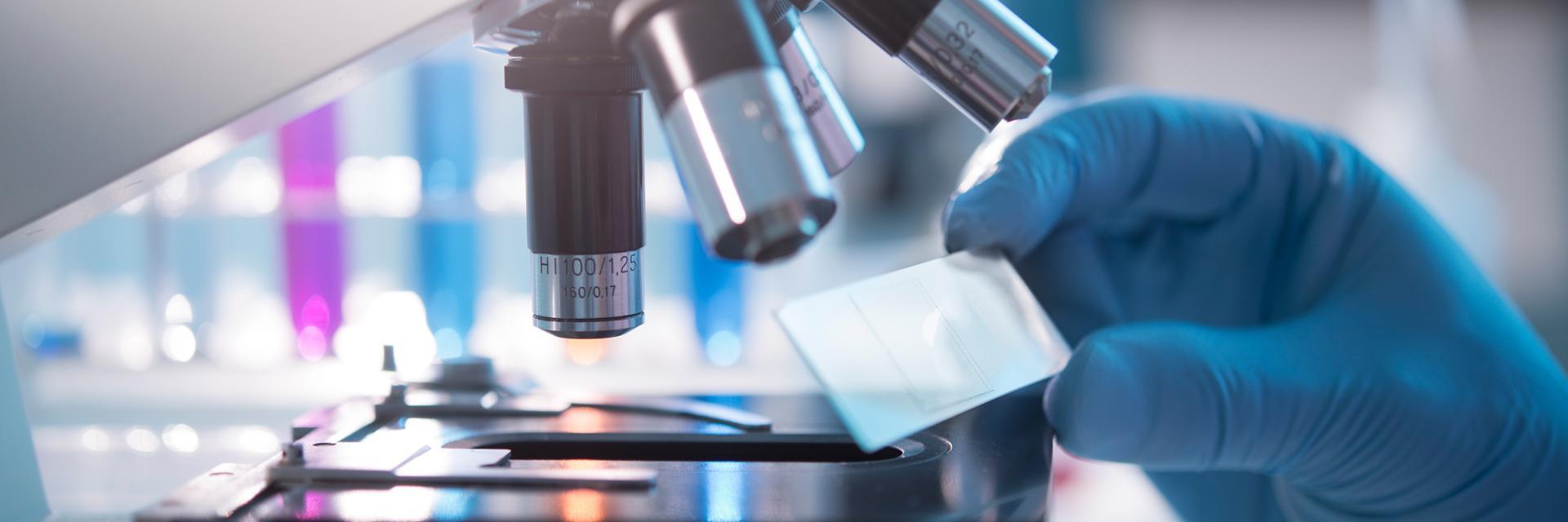Microscope in Chemistry Lab