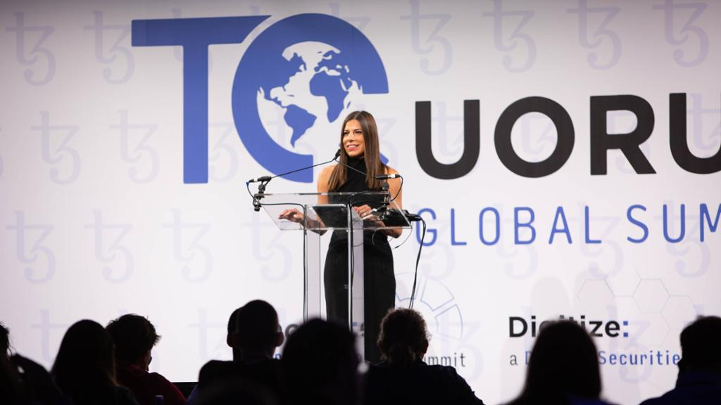 Alison Mangiero speaking at the 2019 TQuorum Global Summit