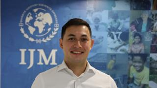 Andrew Wasuwongse in the International Justice Mission Thailand office