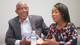 2019-20 Jepson School leaders-in-residence Michael Paul Williams and Ayesha Rascoe