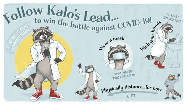 Kalo showing healthy habits during COVID-19