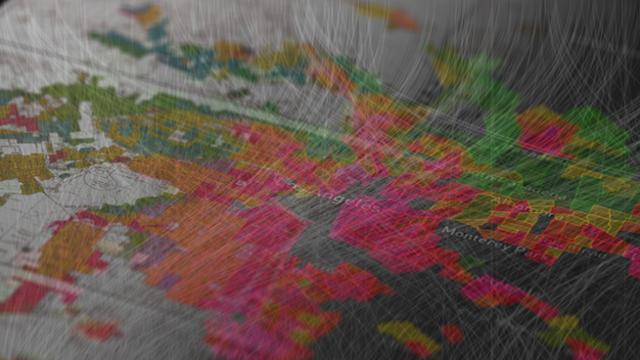 Photo of map of neighborhoods