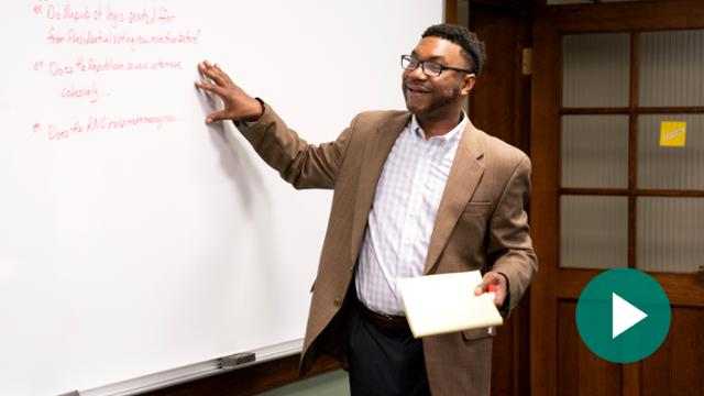 Political science professor Ernest McGowen