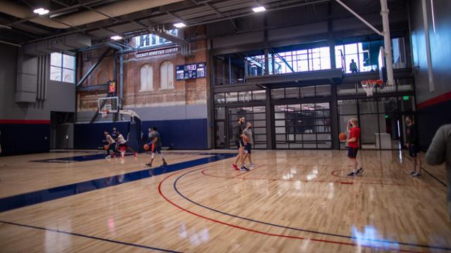 Half court at QAC