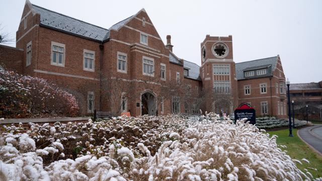 Queally Center in the snow