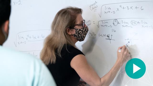 Mathematics professor Della Dumbaugh