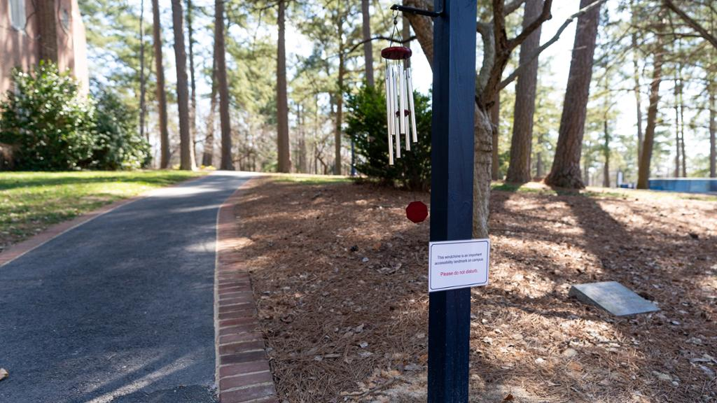 Wind chimes on campus