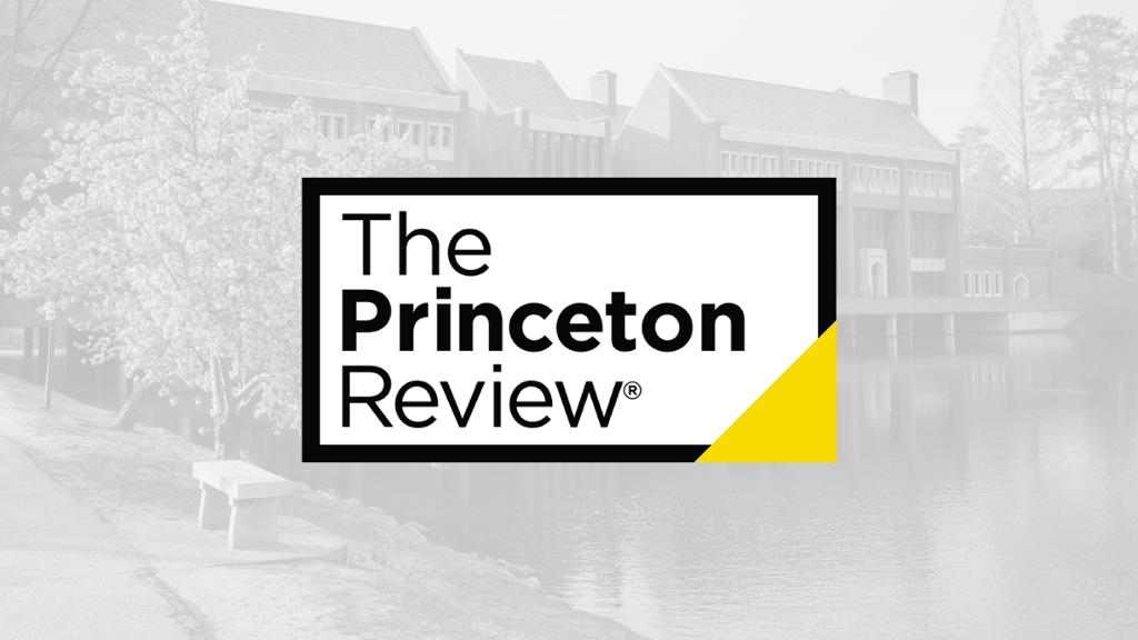 Princeton review logo over the Commons