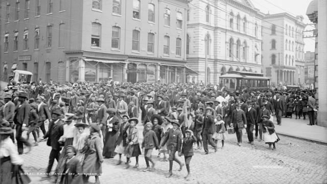Historic photo of Juneteenth celebration in Richmond