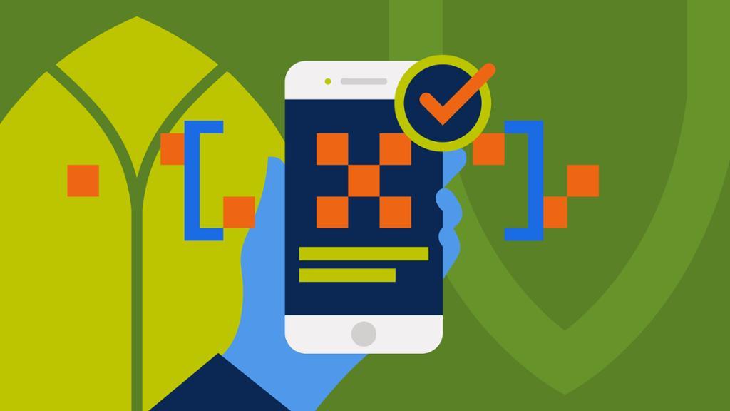 digital vaccine phone illustration