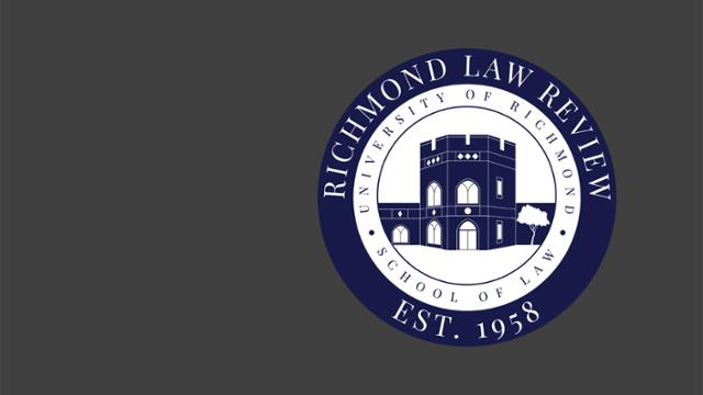 University of Richmond Law Review seal