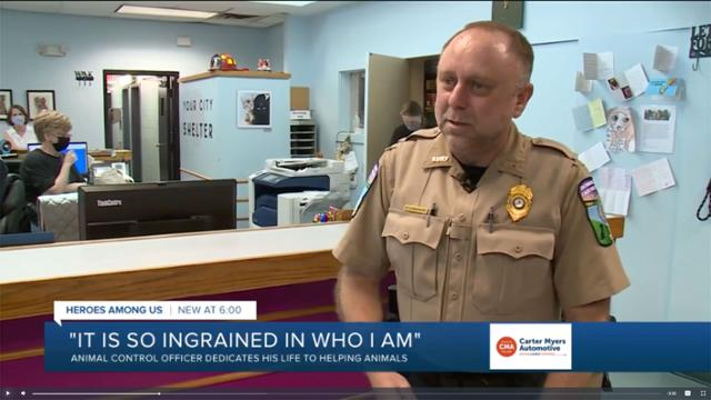 Officer Rob Leinberger of Richmond Animal Control