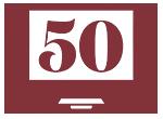 Laptop celebrating 50 years
