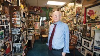 Professor Joe Hoyle in his office