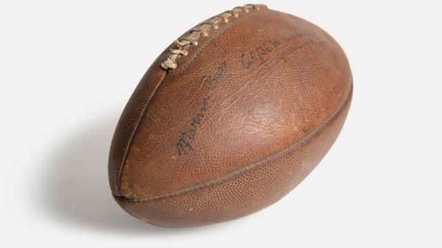 Football from 1942 game between UR and William & Mary