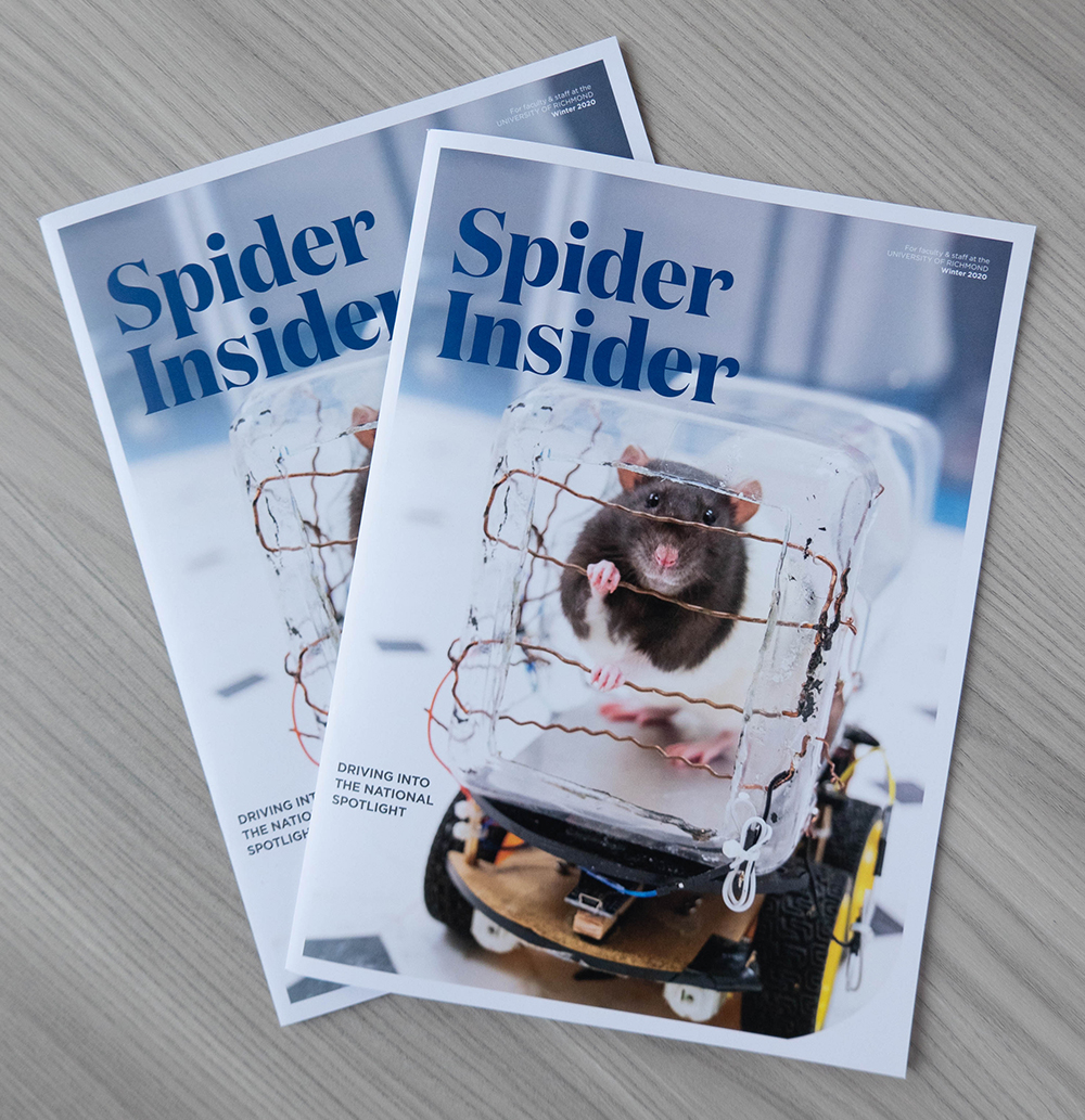 Spider Insider magazine cover and spread