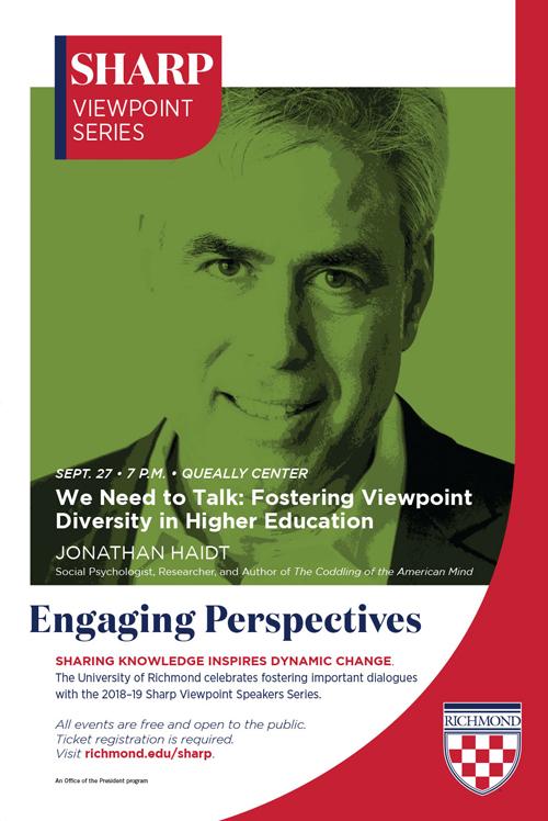 Sharp Viewpoint Series print ad with Jonathan Haidt