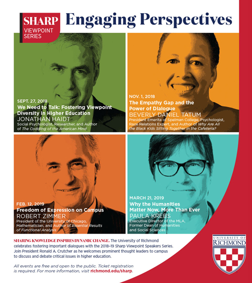 Sharp Viewpoint Series print ad showing all speakers