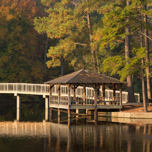 Westhampton Lake gazebo