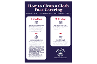 How to clean a cloth face covering