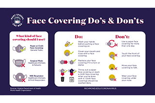 Face covering dos and donts