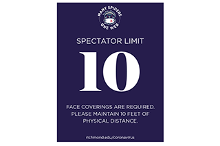 Athletics field spectator limits