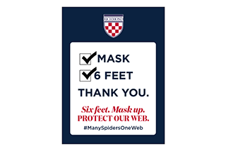 Mask six feet thank you