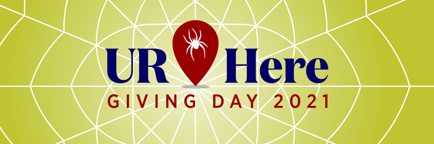 Twitter cover photo for UR Here giving day.