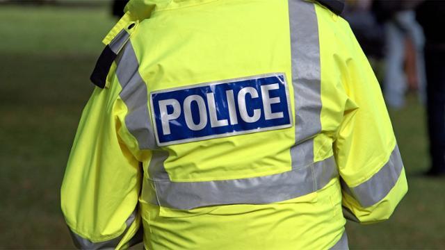 back of police officer