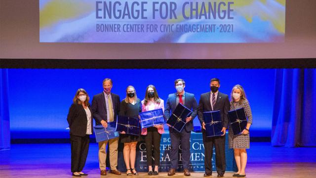 Award recipients on stage