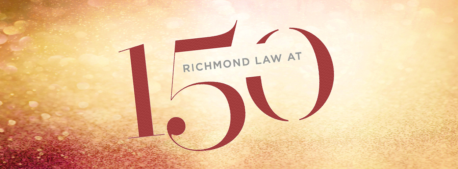 Graphic reading Richmond Law at 150