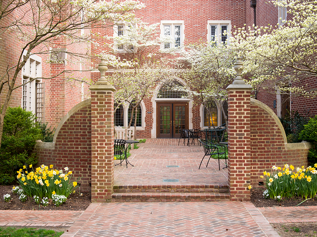 Photo of Law School courtyard