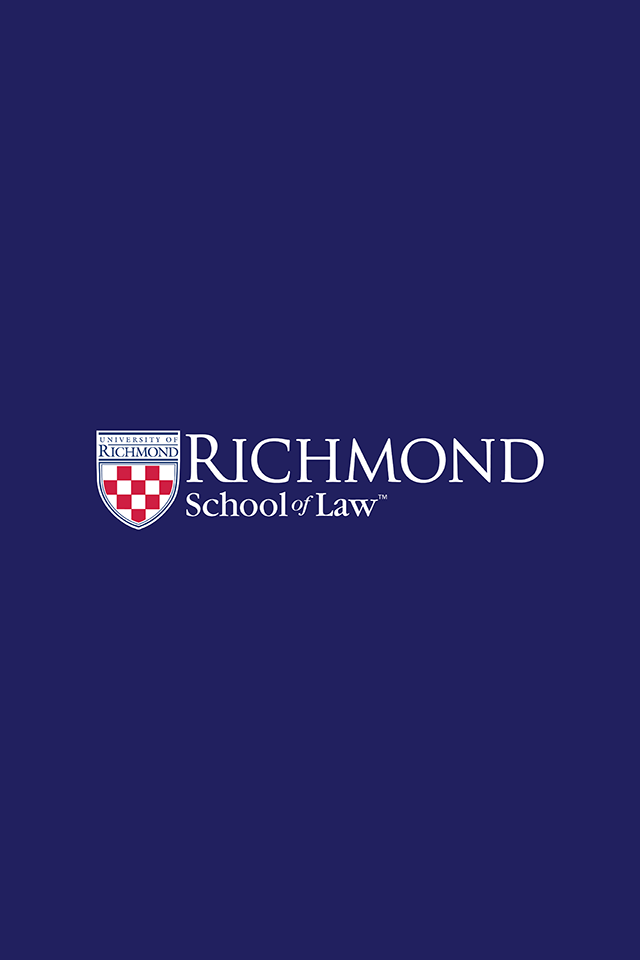 Solid blue with Richmond School of Law logo