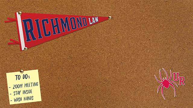 bulletin board with law logo