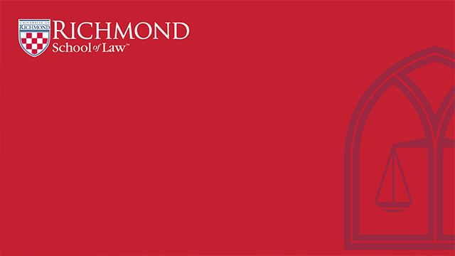 red background with law logo