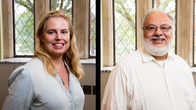 Headshots of Professors Diaz-Barriga and Dorsey
