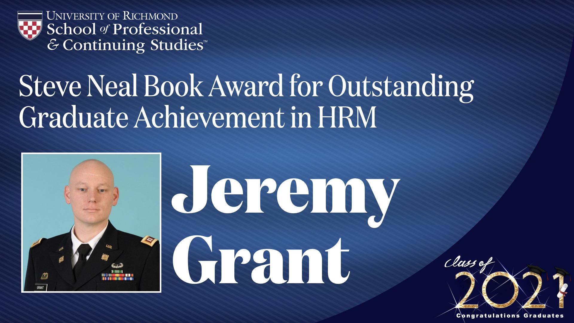 Graduate book award headshot and award name