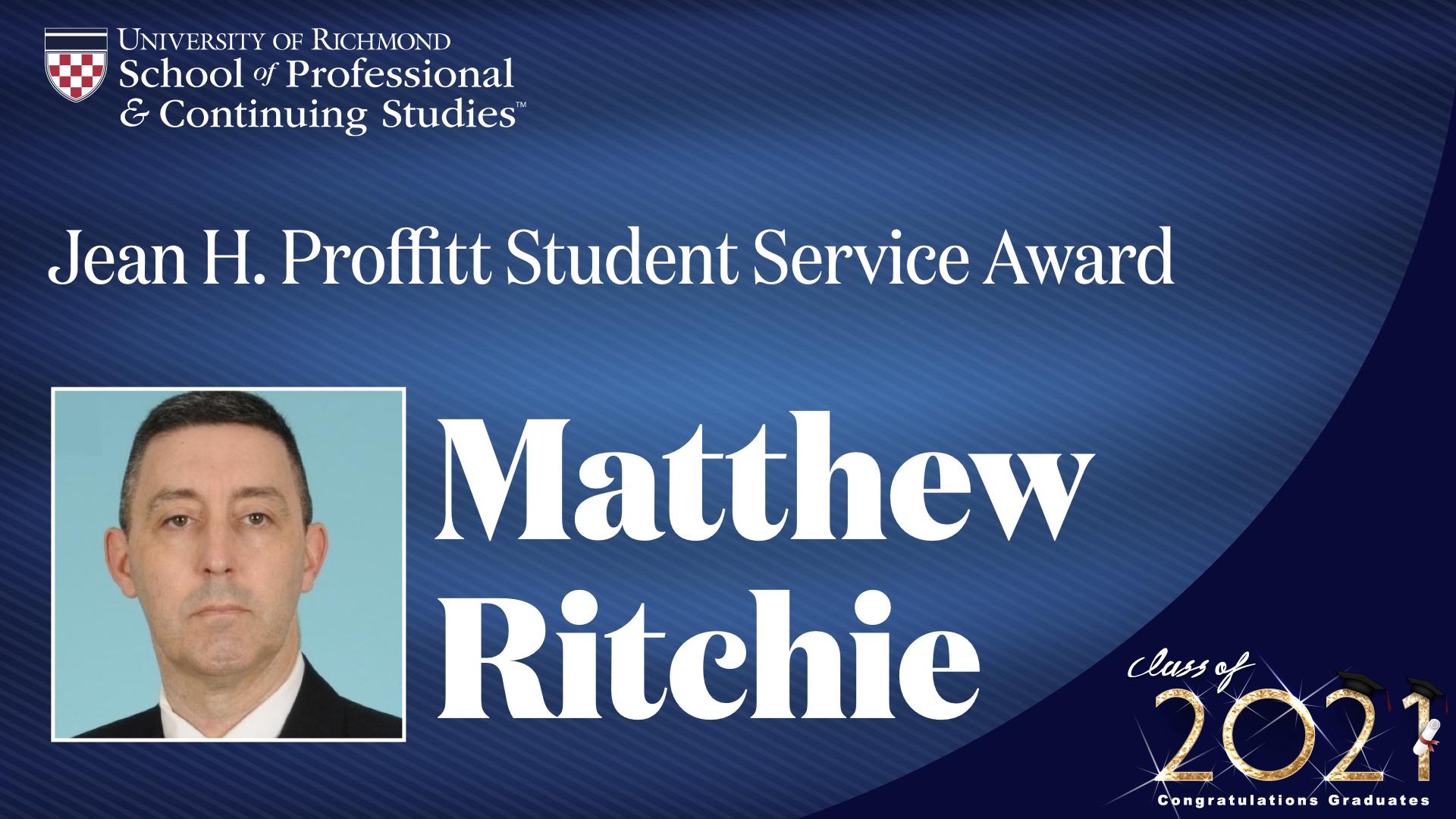 Matthew Ritchie headshot and award name
