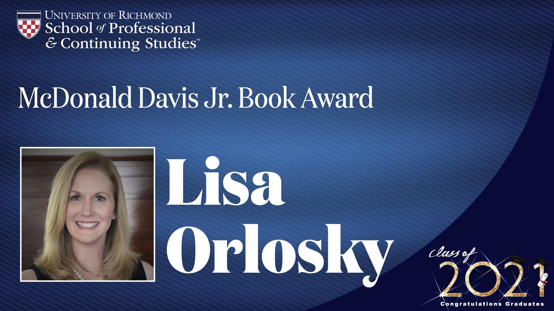 Lisa Orlosky headshot with award name