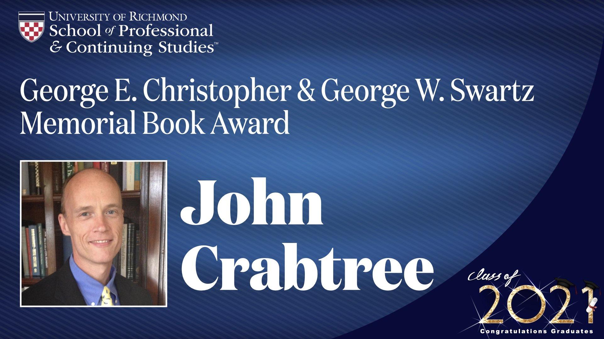John Crabtree headshot and award name