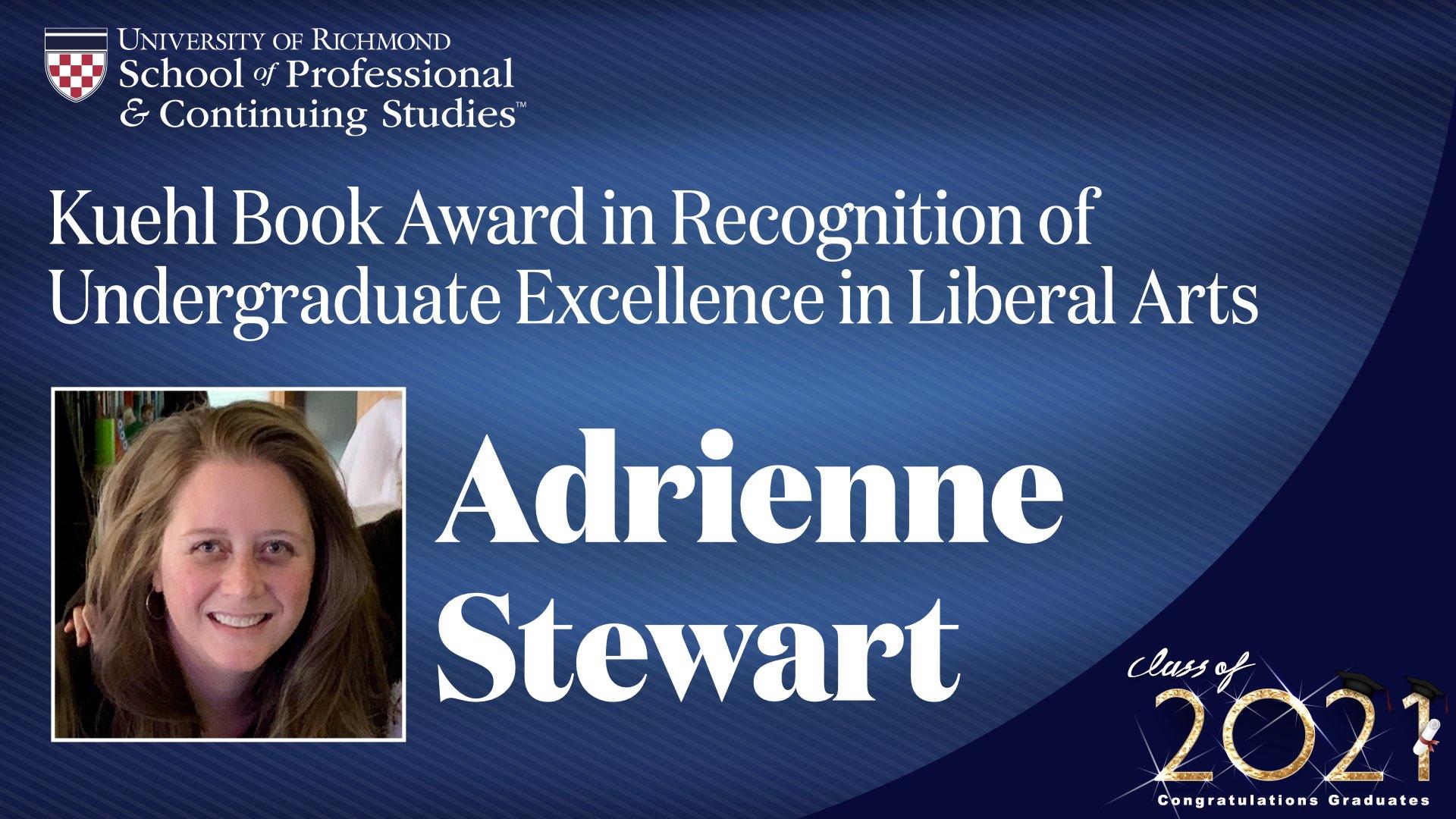 Adrienne Stewart headshot and award name