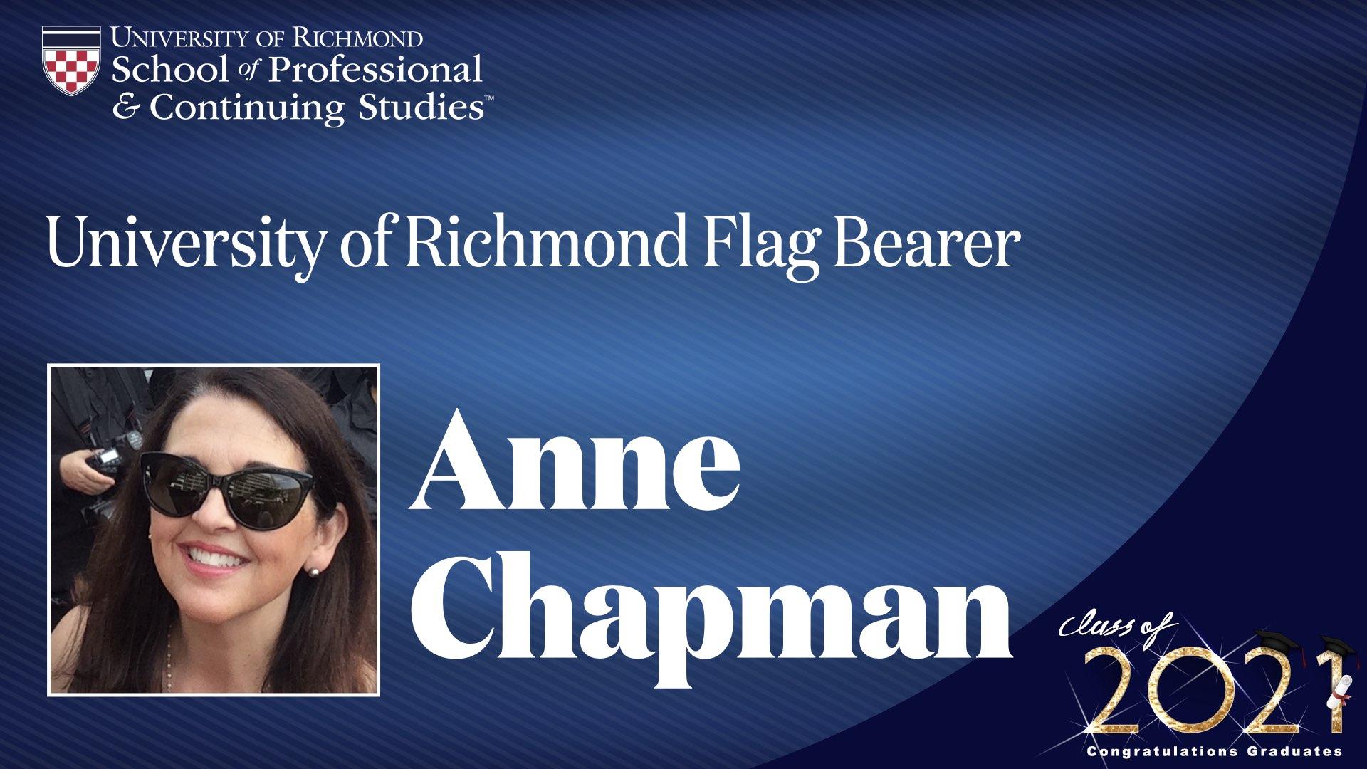 Anne Chapman headshot and award name