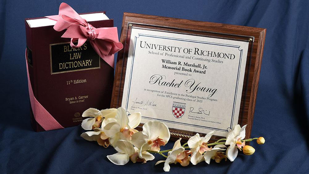 Rachel Young, winner of the William R. Marshall Jr. Memorial Book Award